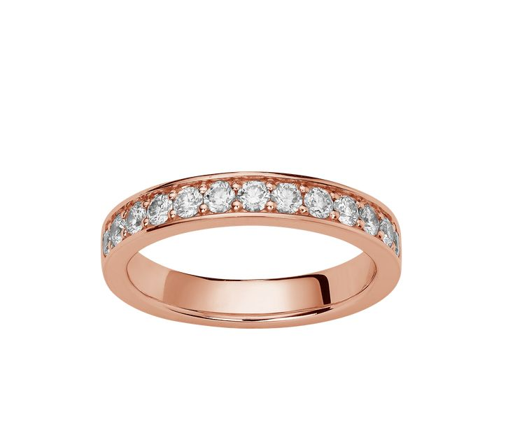 Alliance en diamant de 0,78 Ct en or rose 750 / 1000
