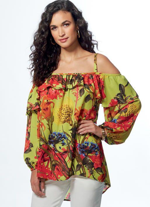 Vogue Patterns off-the-shoulder tops sewing pattern. V9242