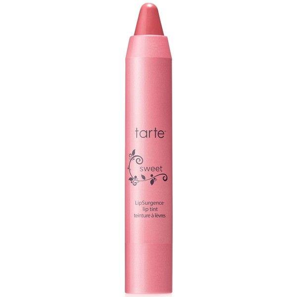 tarte LipSurgence lip tint ($24) ❤ liked on Polyvore featuring beauty products, makeup, lip makeup, lip stain, beauty, lips, sweet, tarte, tarte lip stain and lip gloss makeup