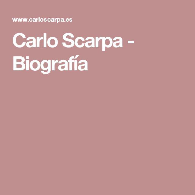 Las 25 mejores ideas sobre carlo scarpa en pinterest for Carlo scarpa biografia