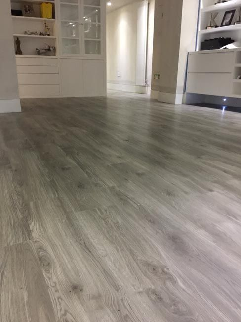 Amtico Grey Wood Flooring To Premises In South London