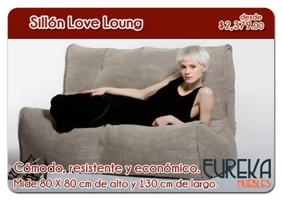 ¡Buenos días! #Sillón http://www.eurekamuebles.com.mx/sillon-love-lounge.html