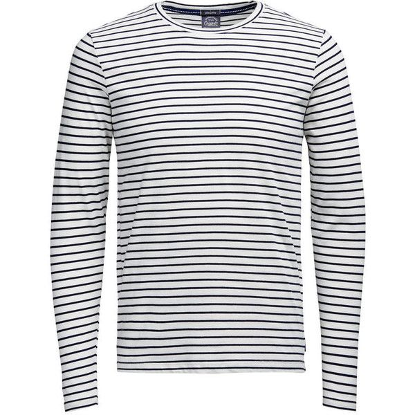 STRIPED LONG-SLEEVED T-SHIRT (85 BRL) ❤ liked on Polyvore featuring men's fashion, men's clothing, men's shirts, men's t-shirts, mens striped shirt, mens long sleeve t shirts, mens long sleeve shirts, mens striped long sleeve t shirt and mens longsleeve shirts