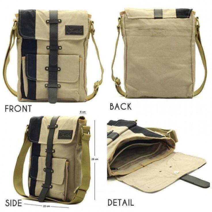 Stylish Canvas Leather School Messenger Book Satchel Travel Outdoor Shoulder Bag