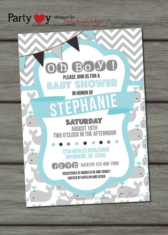 Hey, I found this really awesome Etsy listing at https://www.etsy.com/listing/183711875/nautical-baby-shower-invitation-whale