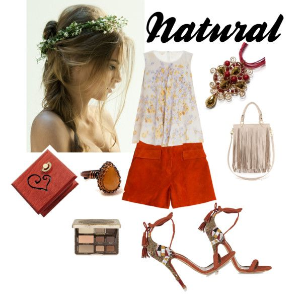 Natural by annawirejewelry on Polyvore featuring Giambattista Valli, Emilio Pucci, Etro, B-Low the Belt and Too Faced Cosmetics