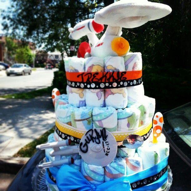 star trek diaper cake - Google Search