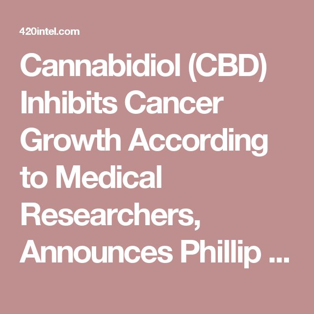 Cannabidiol (CBD) Inhibits Cancer Growth According to Medical Researchers, Announces Phillip Fry
