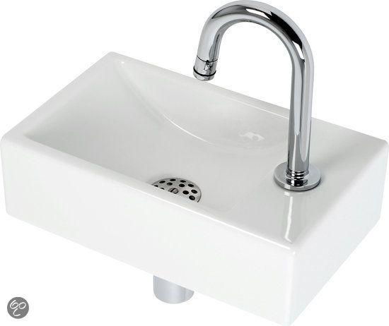 Grohe Feel Fontein Toilet Rechts - Set - Fontein 37 x 23 cm inclusief fonteinkraan en sifon - Keramiek - Wit