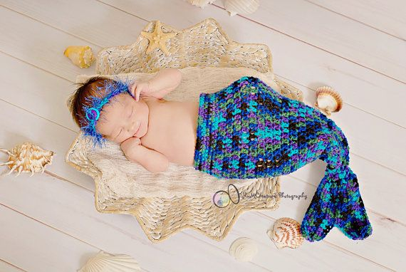 Baby Mermaid Cocoon Photo Prop  Newborn Ocean by pixieharmony, $26.95Feedback Photos, Props Newborns, Photos Ideas, Newborns Ocean, Born Photos, Cocoon Photos, Photos Props, Awesome Etsy, Photography Ideas