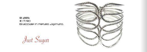 Bracciale in metallo zigrinato