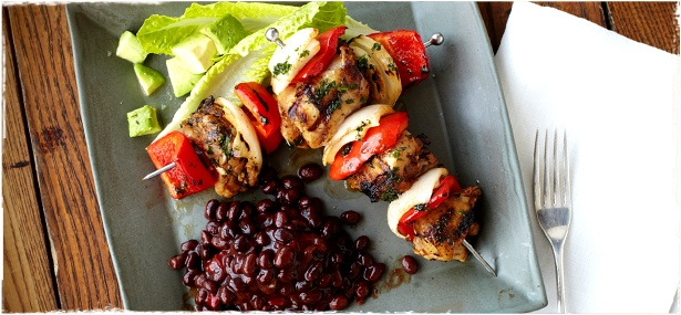 Bush's® Peppery Chicken Kabobs: Cooking Ideas, Peppery Chicken, Cabin Cooking, Comfort Food, Tennessee Cookin, Nom Nom, Chicken Kabobs, Cabin Grilling