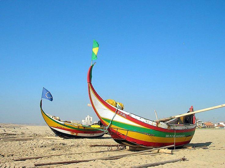 Arte Xávega - barcos de pesca tradicionais portugueses