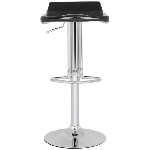 Avish Black Barstool Safavieh Bar Height (28 To 36 Inch) Bar Stools Kitchen & Dining Furni