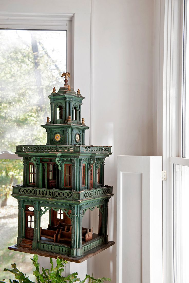 A Vast, Private Collection of Tiny Folk-Art Structures - NYTimes.com (jt-this beautiful miniature building is initialed HWE and dated 1910)