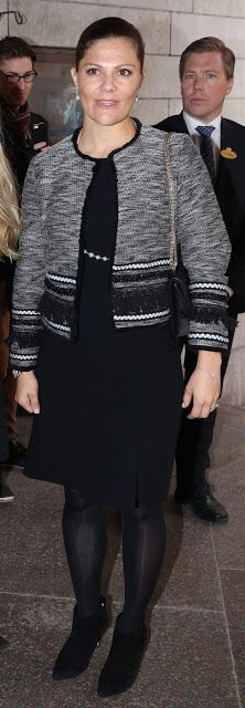 Royals & Fashion - Princess Victoria attended an awards ceremony at Grand Hotel in Stockholm.