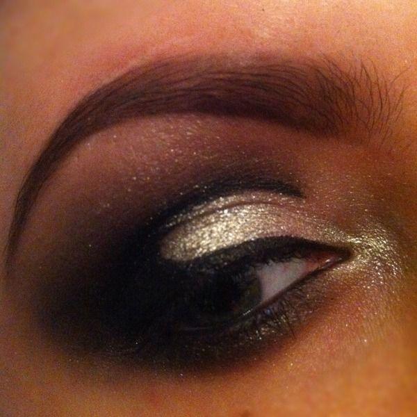 Black cut crease smokey eye