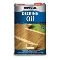 Ronseal Decking Oil 5L | Softwood and Hardwood Decking Protection