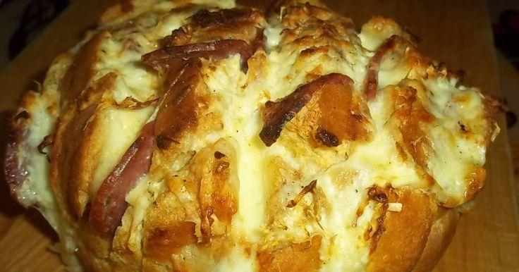Ψωμί γεμιστό με αλλαντικά και τυριά, Pizza snack