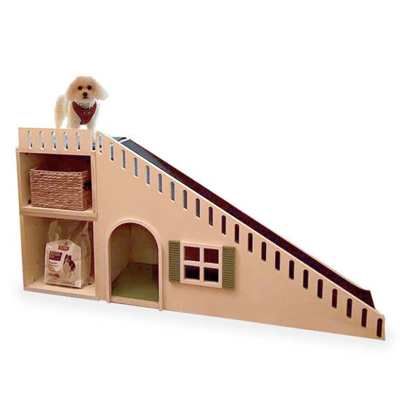 Personalized Designer Dog Ramp / House with Storage by ModRoomz