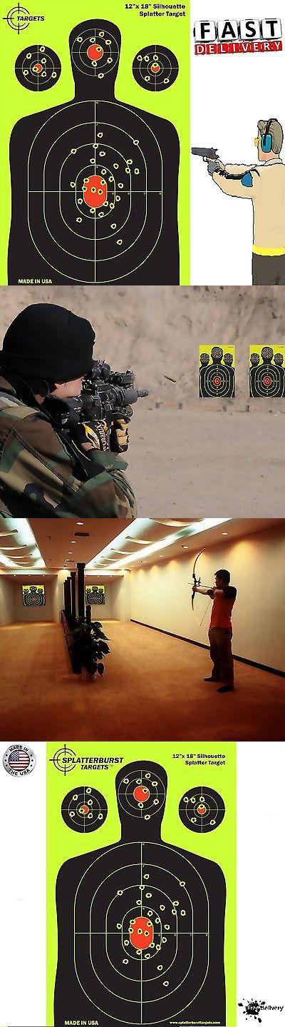 Targets 73978: 50 Pack 12X18 Shooting Splatter Targets High Visibility Gun Shots Paper Target -> BUY IT NOW ONLY: $40.0 on eBay!