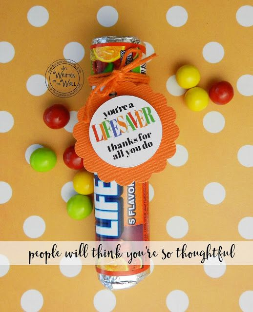 It's Written on the Wall: You're a LIFESAVER—Thanks For All You Do! Fun Appreciation Treat Gifts