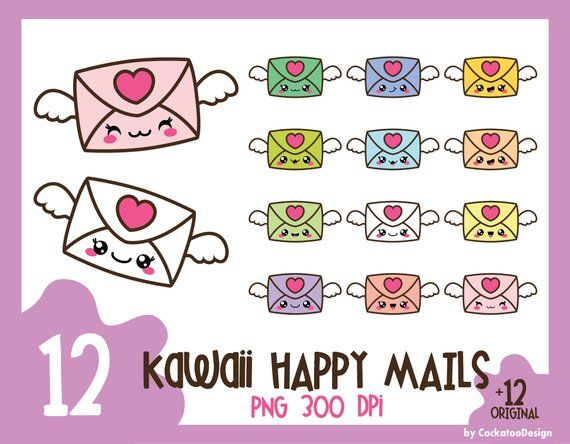 35 Off Kawaii Clip Art Love Letter Clipart Valentines Day