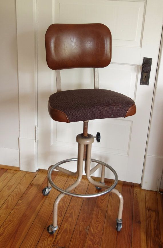 vintage industrial drafting stool brown machine age chair royal 1960 bedroomstunning office chair drafting chairs
