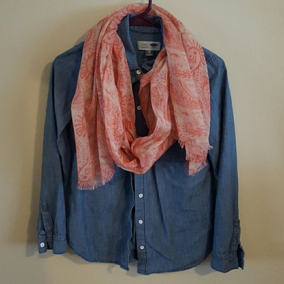 Coral paisley scarf  Accessories Scarves & Wraps