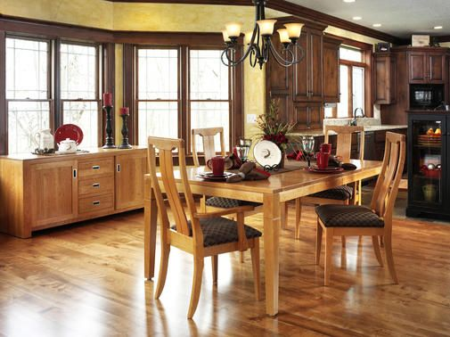 Brentwood Transitional Style Solid Cherry Wood Dining Room Set Available At  Burress Amish Furniture In Illinois.