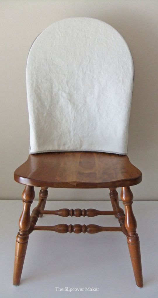 Slipcover Topper for Windsor Chair - with natural linen trim. Great idea!