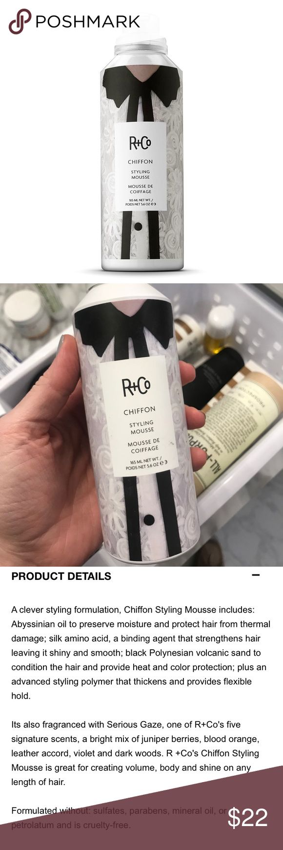 R & Co Styling Mousse Chiffon styling mousse. NWT HAIR PRODUCT R&Co Makeup
