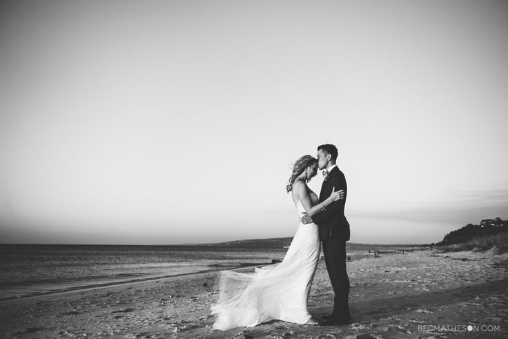 Mornington Peninsula beach wedding. Melbourne wedding photography.  www.becmatheson.com  #beachwedding #australianwedding #mornington