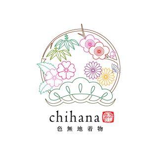色無地着物 千花 chihanaのロゴ:紋をクリアにまとめたロゴ   ロゴストック