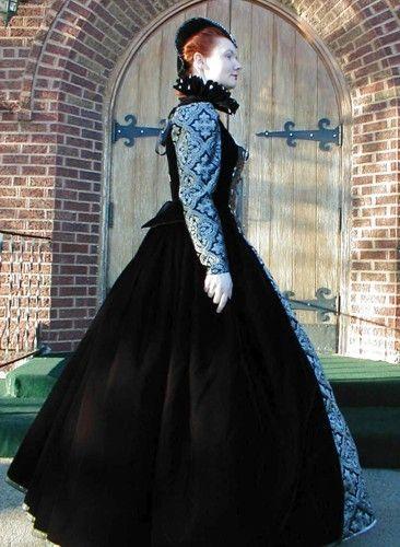 Elizabethan Renaissance Gown Gothic Dress Custom by Elisabella, $550.00