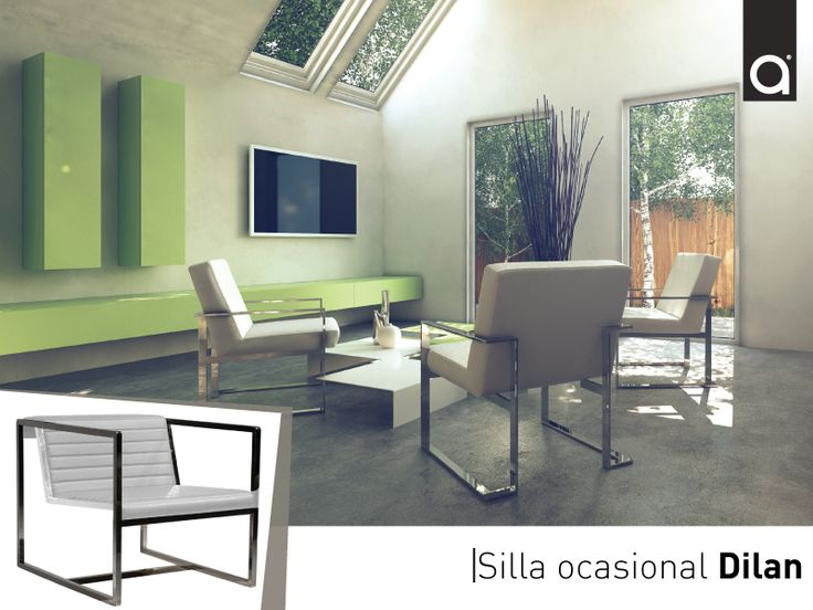 Esta propuesta de living con estilo minimalista incluye sillas ocasionales con diseño elegante y sobrio.