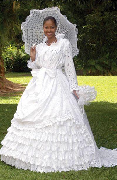mariage antillais (Martinique, Guadeloupe..)  = origines de  poupee banane