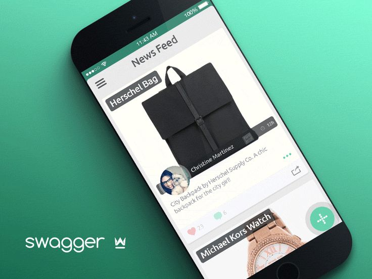 Swagger App - Feed Transitions by Kreativa Studio