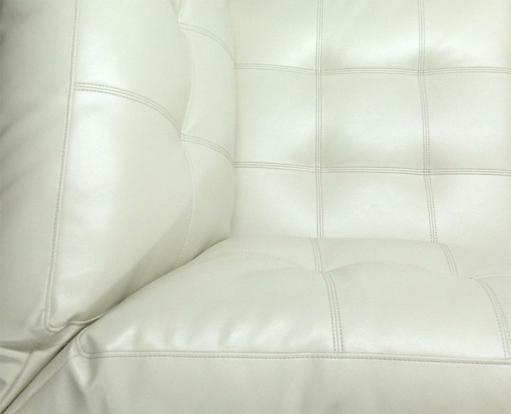 The Toronto Sectional Is Designed With Elegant Tufted Cream Leather Baseball Stitching Sink Into