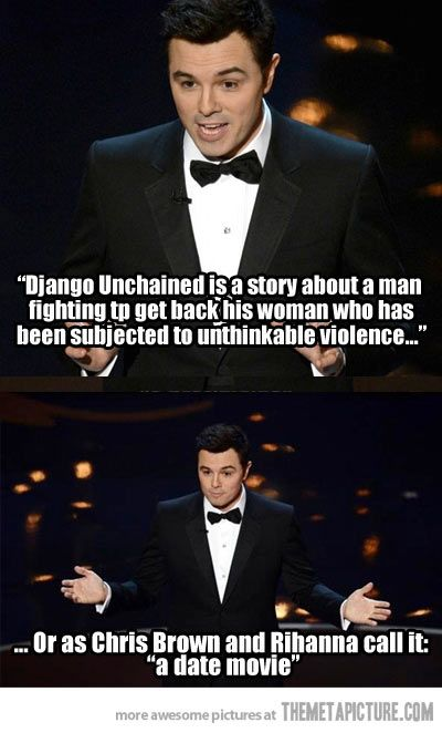 I LOVE SETH MCFARLANE .... I dont know why people disagree.. he says what we all are thinking...