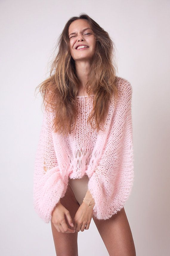 The best springtime sweater is loose, breezy, and pretty in pink.