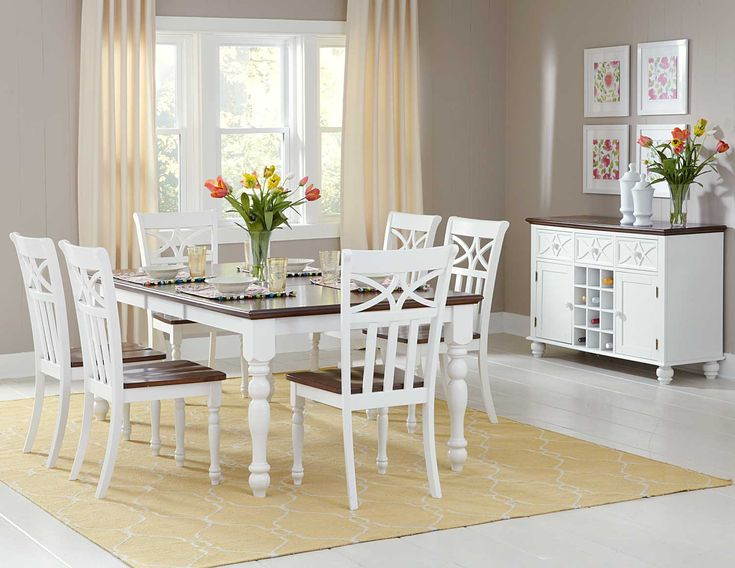 Homelegance Sanibel Dining Table Set In White
