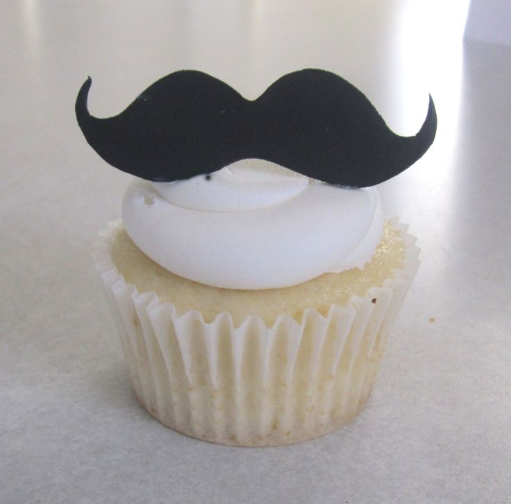 Mustache Cupcake/Cookie Topper Assortment - 1 Dozen MINI Size. $8.00, via Etsy.