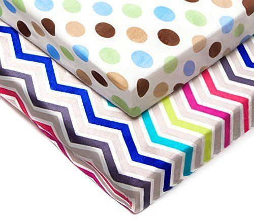 KN 2 PCS Mini Multi Color Waterproof Soft Kid Fitted Toddler Bed Sheet Nursery