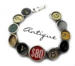 Make typewriter key jewelry fast