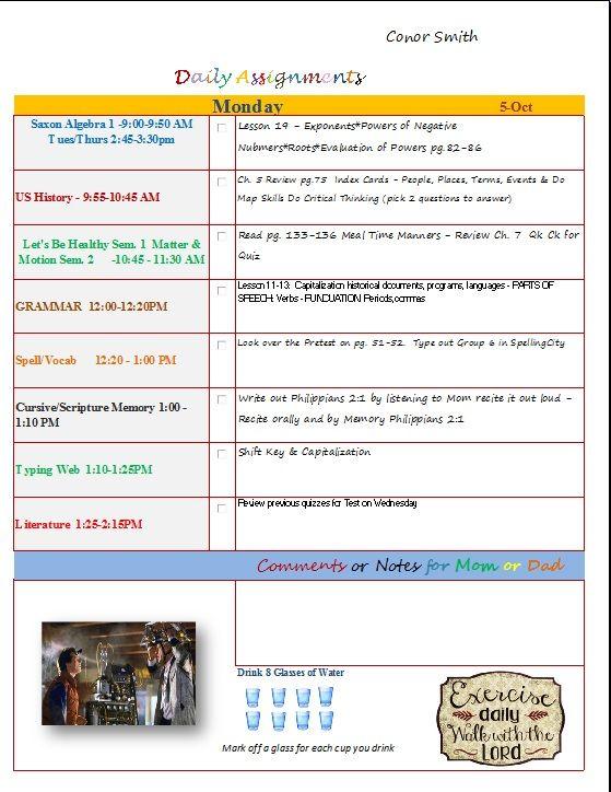 Homeschool Lesson Plan Template Excel Idealstalist