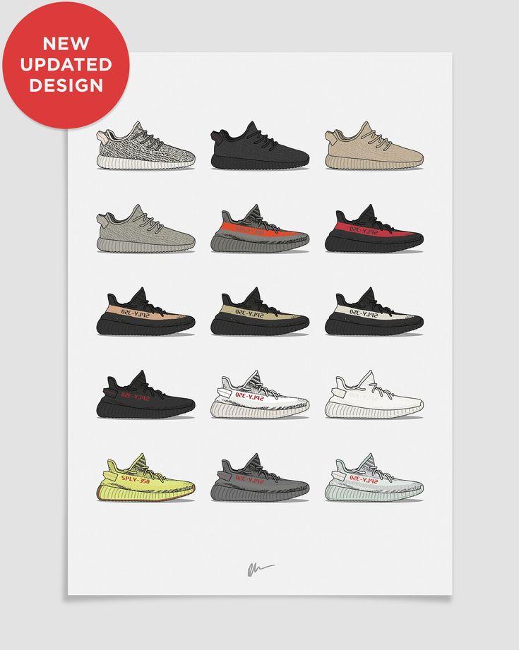 Originally created Yeezy 350 v1 Sneaker art, Sneakers