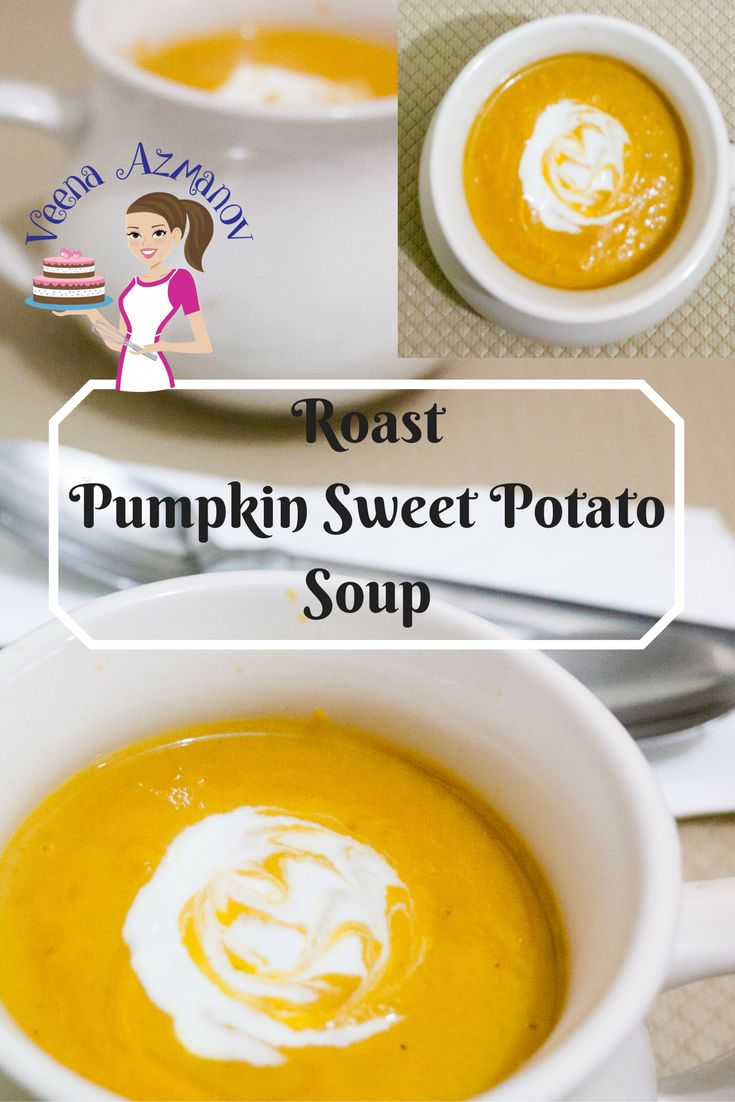 This Roast Pumpkin and Sweet Potato Soup is the simplest and easiest soup recipe that you can make. Roasting the veggies brings out the sweetness of the vegetables and adds to the velvet texture of the soup. Roast Pumpkin and Sweet Potato Soup Pumpkin Soup Sweet Potato Soup. how to make sweet potato soup, how to make pumpkin soup, how to make veggie soup, the best winter soup, cooking in winter, roast pumpkin