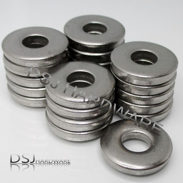M6 - Qty:20 - A2 Stainless Steel Thick Heavy 6mm Washers