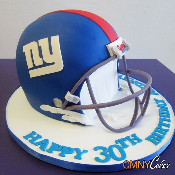 New York Giants Football Helmet Cake